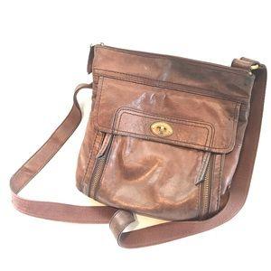 Fossil Lamb Leather Crossbody Bag